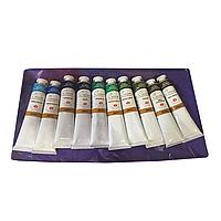 Художественные масляные краски 'СОНЕТ', 10 цветов в тубах