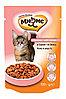 Влажный корм для кошек Мнямс Кожа и шерсть с лососем в соусе (паучи)