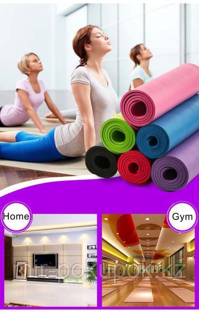 Мягкий коврик для йоги и фитнеса из нескользящего материала Йогамат (4 мм)