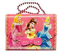 Блокнот для дев. в коробочке на замке С-203 с кодом и длинной ручкой из шариков (Сумочка)