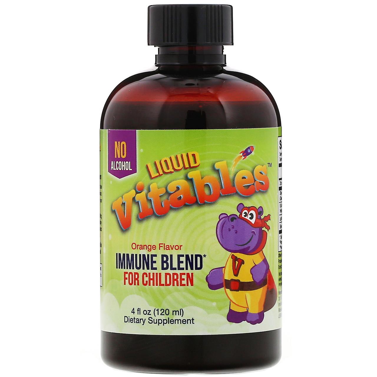 Детская жидкая добавка для укрепления иммунитета, без спирта, со вкусом апельсина, 120 мл (4 жидк. унции)