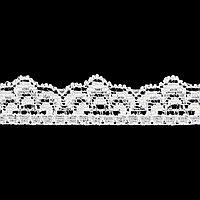 Кружево эластичное, ширина 16мм белый