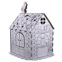 Картонный домик раскраска ПМДК