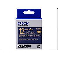 Лента Epson C53S654002 Сатиновая лента 12мм,Тем.Син./Золото,5м