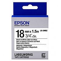 Лента Epson C53S655001 Магнитная лента 18мм, Бел./Черн., 2м