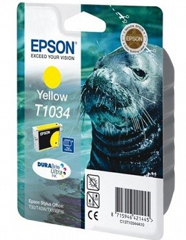 Картридж Epson C13T10344A10 I/C yellow extra high capacity for Stylus TX550W / T40W / TX600FW