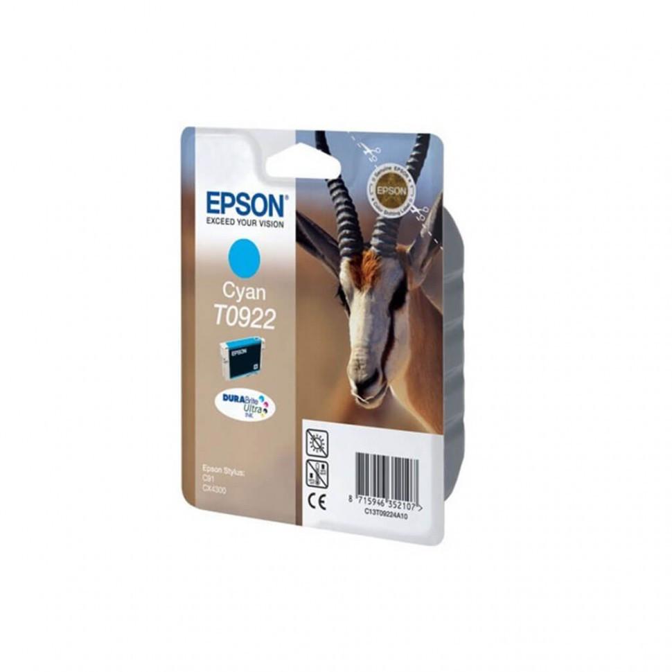 Картридж Epson C13T10824A10 I/C cyan for C91/CX4300 new (0922)