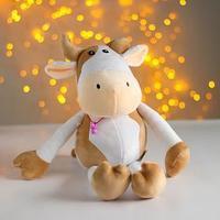 Мягкая игрушка 'Пятнистая коровка', 20 см, цвет белый