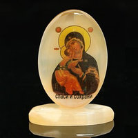 Икона 'Владимирская', на подставке, селенит
