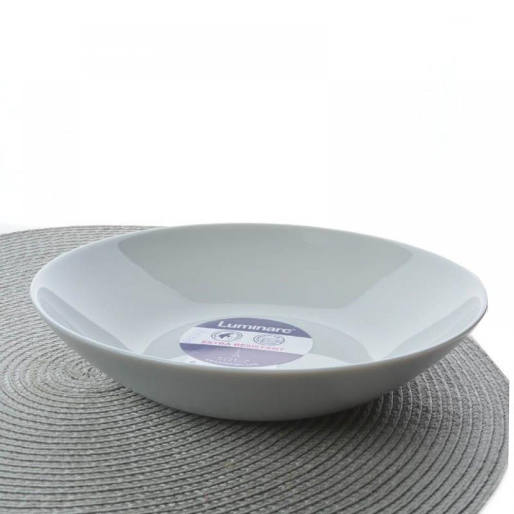 Тарелка суповая Luminarc Diwali Granit 20 см Серая (P0703)