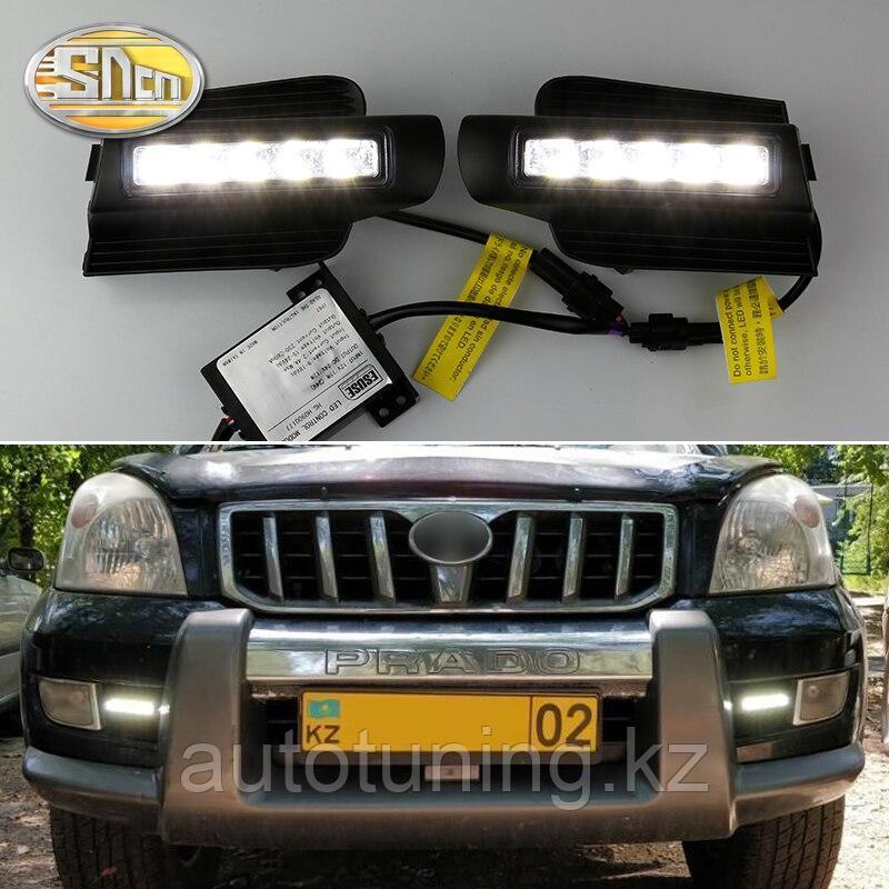 Дневные ходовые огни (ДХО) в бампер на  Land Cruiser Prado 120 2002-2009