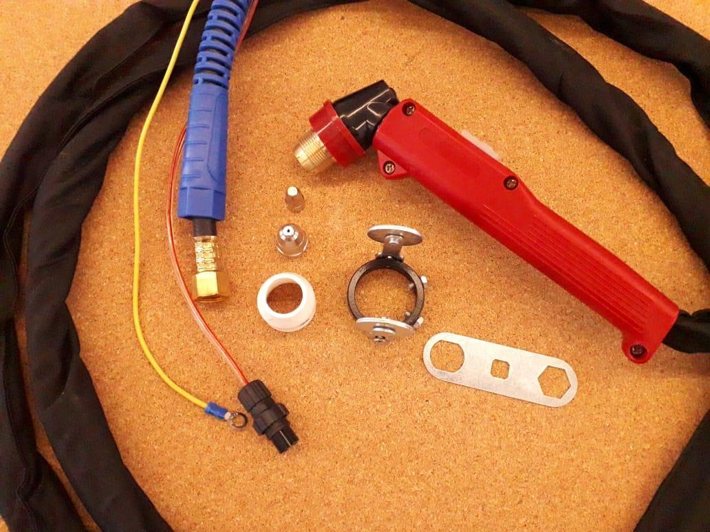 Резак плазменный (плазмотрон) P80 с силовым кабелем 4 м ручной