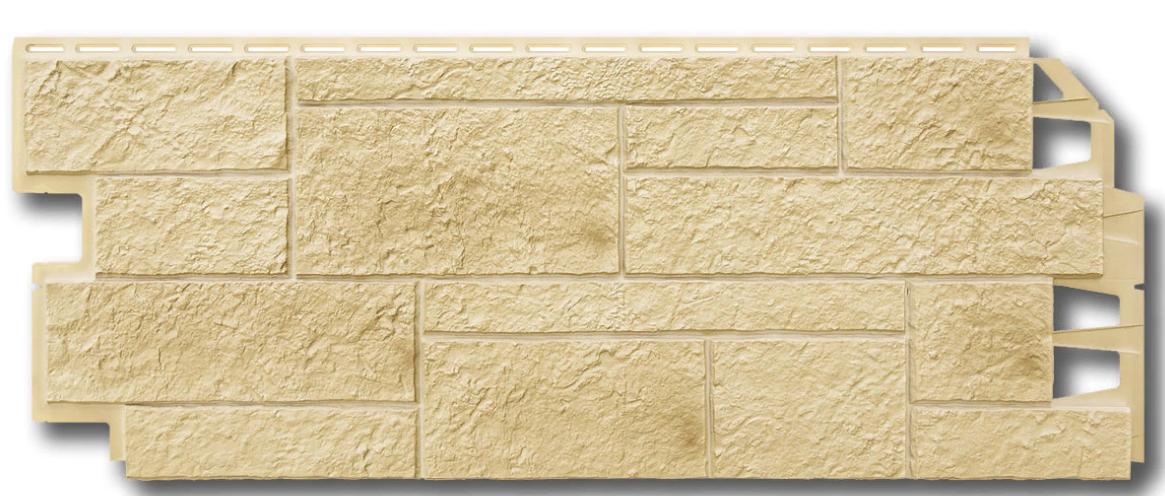 """Фасадные панели VOX 420x1000 мм (0,42 м2) Solid Sandstone """"Creme"""" Твердый Песчаник """" Крем"""""""