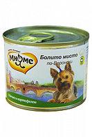 Влажный корм для собак всех пород Мнямс Болито мисто по-Веронски дичь с картофелем