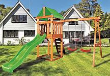 Детская игровая площадка BABYGARDEN PLAY 2 LG с качелями и светло-зеленой горкой