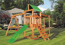Детская игровая площадка BABYGARDEN PLAY 3 LG с рукоходом и светло-зеленой горкой