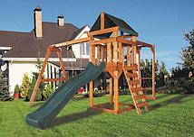 Детская игровая площадка BABYGARDEN PLAY 4 DG с рукоходом, качелями и темно-зеленой горкой