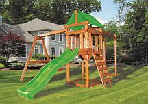 Детская игровая площадка BABYGARDEN PLAY 4 LG с рукоходом, качелями и светло-зеленой горкой