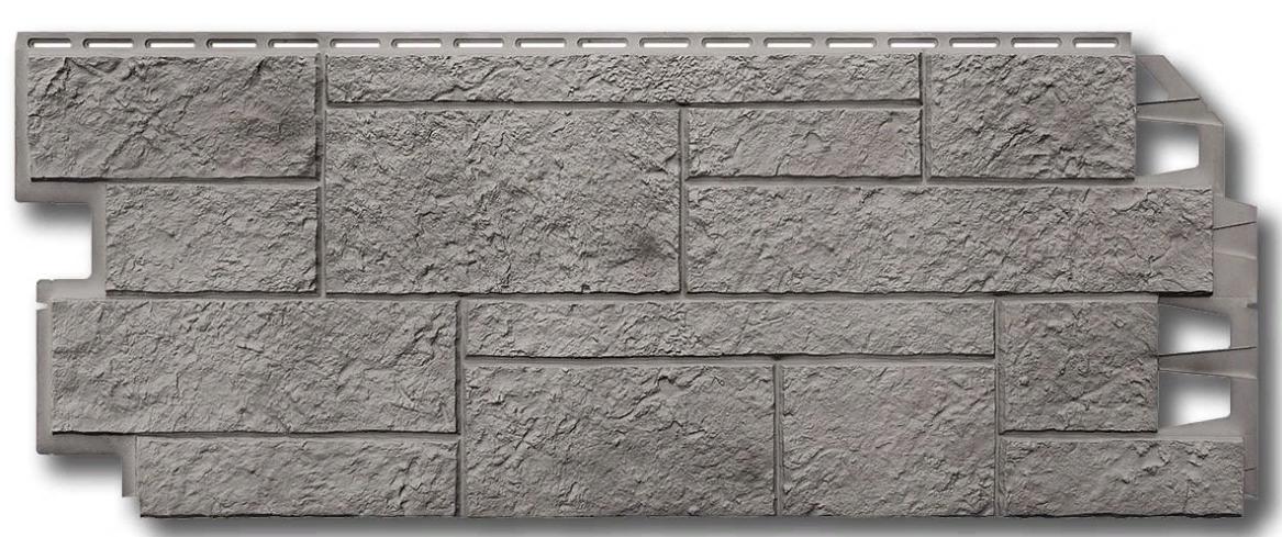 """Фасадные панели VOX 420x1000 мм (0,42 м2) Solid Sandstone """"Light Grey"""" Твердый Песчаник """"Светло-Серый"""""""