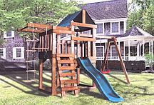 Детская игровая площадка BABYGARDEN PLAY 5 DG с веревочной лестницей, закрытым балконом и тд