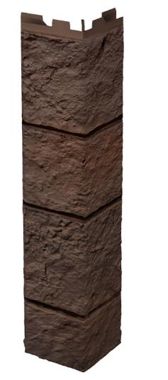 """Наружный угол 420 мм VOX Solid Sandstone """"Dark Brown"""" Твердый Песчаник """" Темно-Коричневый"""""""