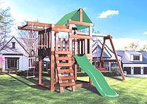 Детская игровая площадка BABYGARDEN PLAY 5 LG с турником, веревочной лестницей, закрытым балконом и горкой