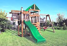 Детская игровая площадка BABYGARDEN PLAY 6 LG с турником, веревочной лестницей и светло зеленой горкой