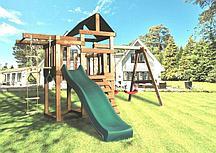 Детская игровая площадка BABYGARDEN PLAY 6 DG с турником, веревочной лестницей,кольцами и горкой