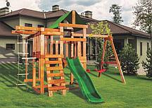 Детская игровая площадка BABYGARDEN PLAY 7 LG с балконом, турником, веревочной лестницей, трапецией и горкой