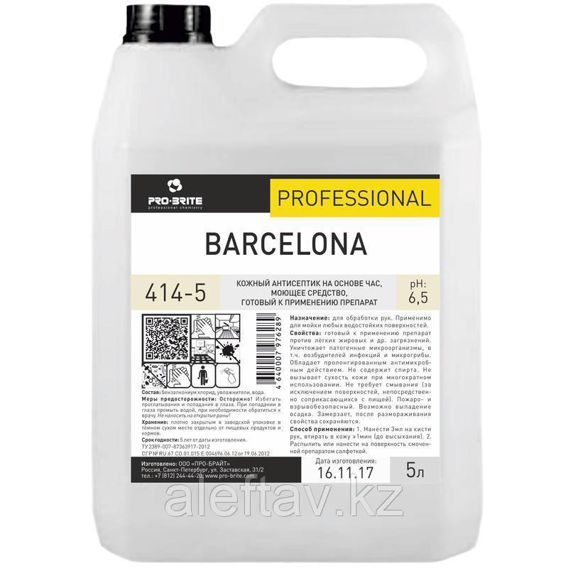 Антисептик для рук Pro Brite Barcelona  5 литров.