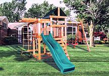 Детская игровая площадка BABYGARDEN PLAY 8 DG с балконом, турником,веревочной лестницей, трапецией и горкой