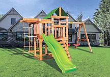 Детская игровая площадка BABYGARDEN PLAY 8 LG с балконом, турником, веревочной лестницей, трапецией и горкой