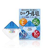 Капли для глаз с витаминами и аминокислотами, с охлаждающим эффектом «Rohtobita 40α», Rohto, 12 мл