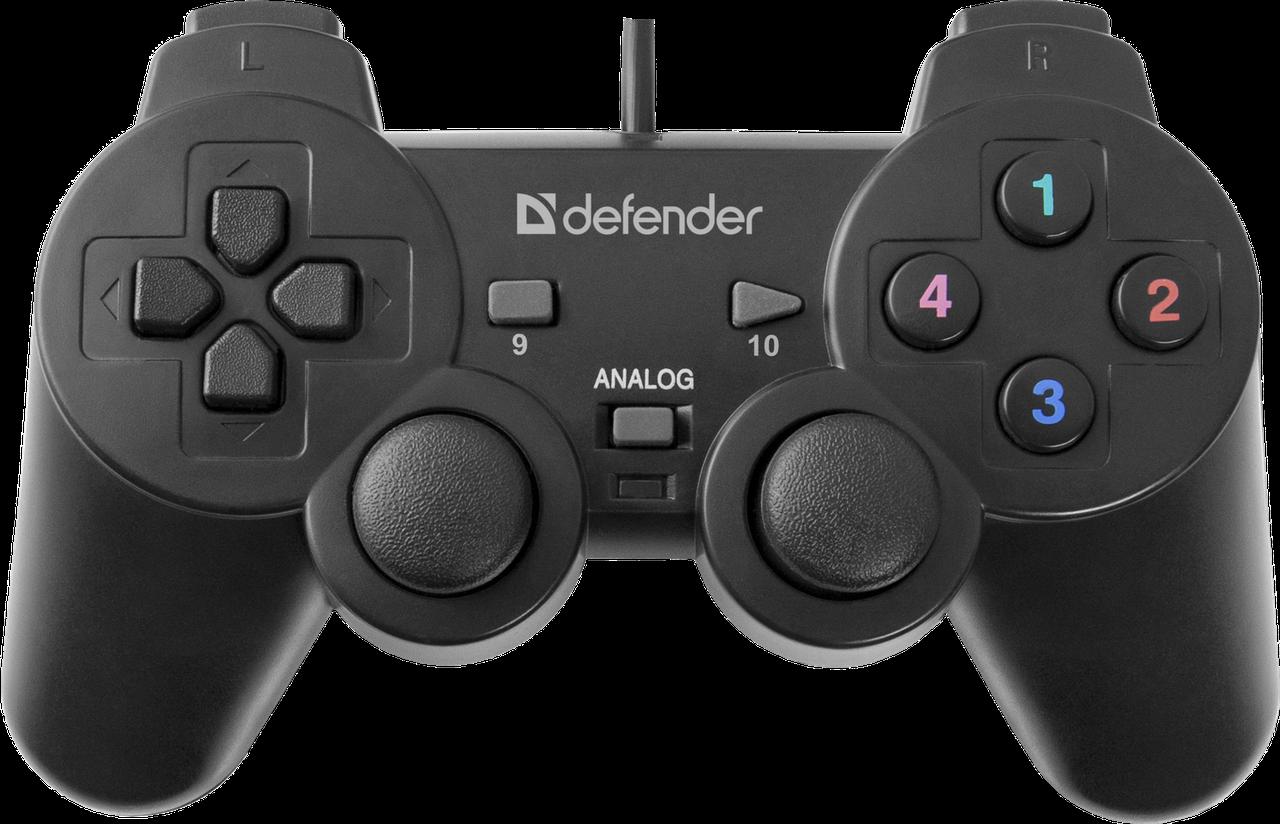Игровой джойстик/гемпад Defender Omega (Black)