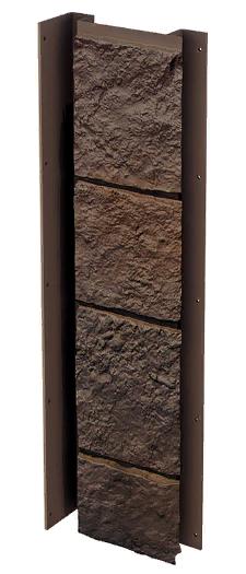 """Планка универсальная 121x420ммVOX Solid Sandstone """"Dark Brown"""" Твердый Песчаник """" Темно-Коричневый"""""""