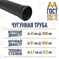 Труба чугунная из ВЧШГ д. 500мм