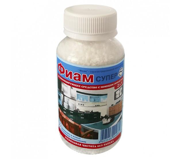 Концентрированное средство для дезинфекция cтен, пола с вирулицидным действием - ФИАМ  СУПЕР 100 гр