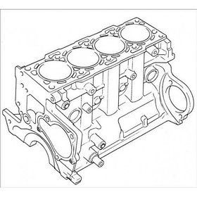 Блок цилиндров Isuzu 6VD1