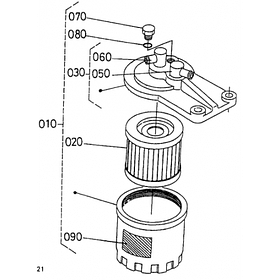 Фильтр топливный Kubota D750