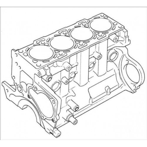 Блок цилиндров Isuzu 4HK1