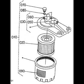 Комплект фильтров Kubota V1701