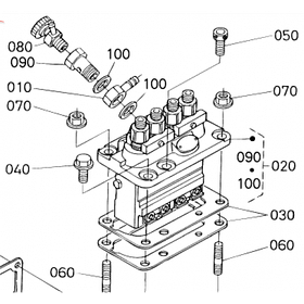 Насос высокого давления (ТНВД) Kubota V1702