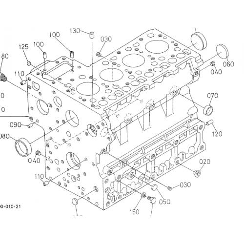 Блок цилиндров Kubota V1300