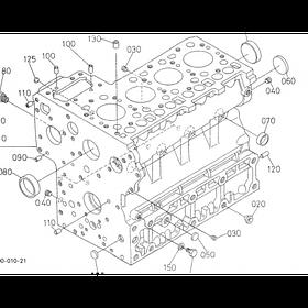 Блок цилиндров Kubota V1200