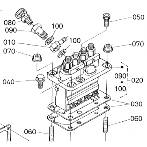 Насос высокого давления (ТНВД) Kubota V1200