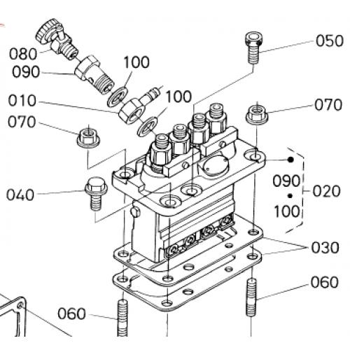 Насос высокого давления (ТНВД) Kubota V1300