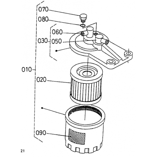 Фильтр топливный Kubota D1703