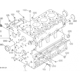Блок цилиндров Kubota V1400