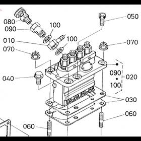 Насос высокого давления (ТНВД) Kubota V3800