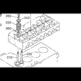 Клапан впускной Kubota V4000